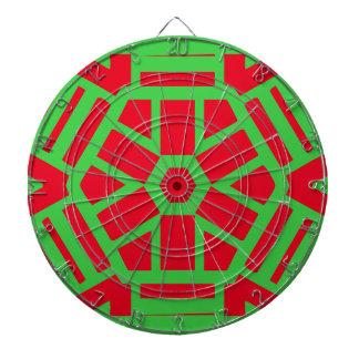 Roter grüner Feiertags-themenorientiertes Dart-scheibe
