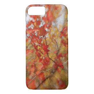 Roter Herbst verlässt abstrakte Malerei iPhone 8/7 Hülle