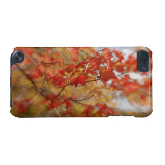 Roter Herbst verlässt abstrakte Malerei iPod Touch 5G Hülle