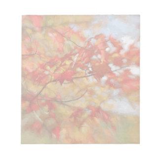 Roter Herbst verlässt abstrakte Malerei Schmierblöcke