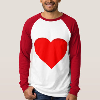 Roter Herz-Doppelt-Druck-Entwurf T-Shirt