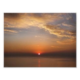 Roter Himmel Fotodruck