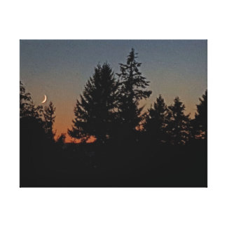 Roter Himmel nachts… Leinwanddruck