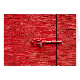 Roter hölzerner Bolzen Karte