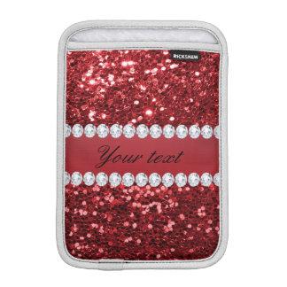 Roter Imitat-Glitter und Diamanten Sleeve Für iPad Mini