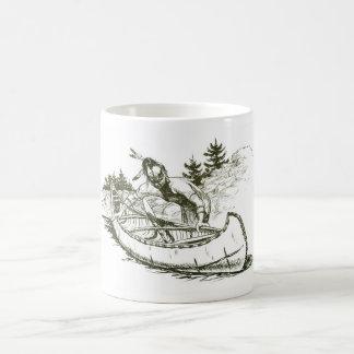 Roter Inder mit Kanu Kaffeetasse