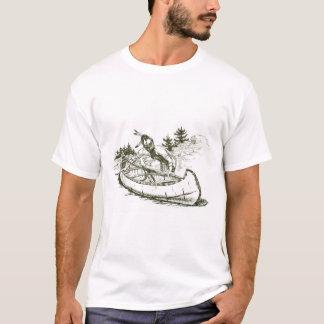 Roter Inder mit Kanu T-Shirt