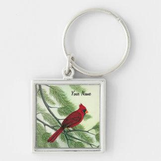 Roter Kardinal - Keychain Schlüsselanhänger
