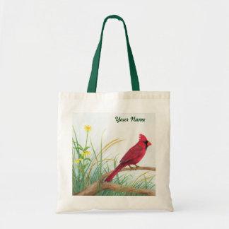 Roter Kardinal - kundengerechte Taschen-Tasche Budget Stoffbeutel