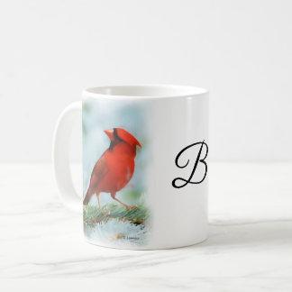 Roter Kardinals-Druck personalisiert Kaffeetasse