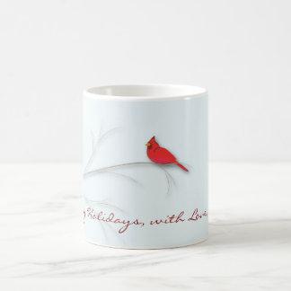 Roter Kardinals-Editable Tasse