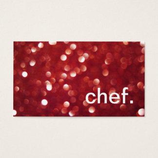 Roter Kochs-Lebensmittellieferant Glitter-Glitzern Visitenkarte