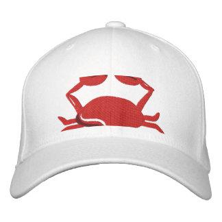 Roter Krabben-Strand Bestickte Baseballkappe