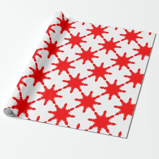 Roter Kreisdruck Einpackpapier