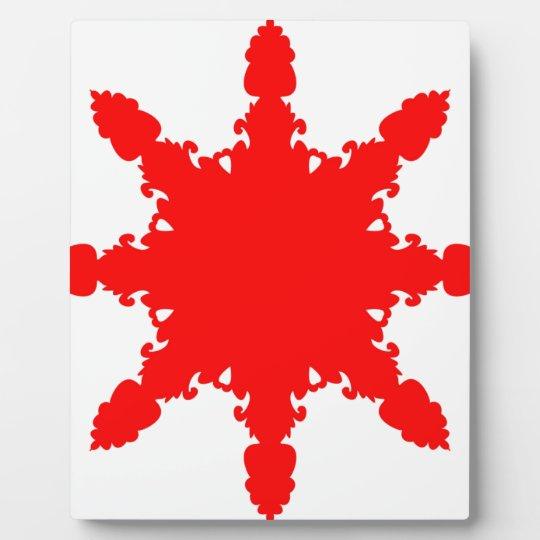 Roter Kreisdruck Fotoplatte