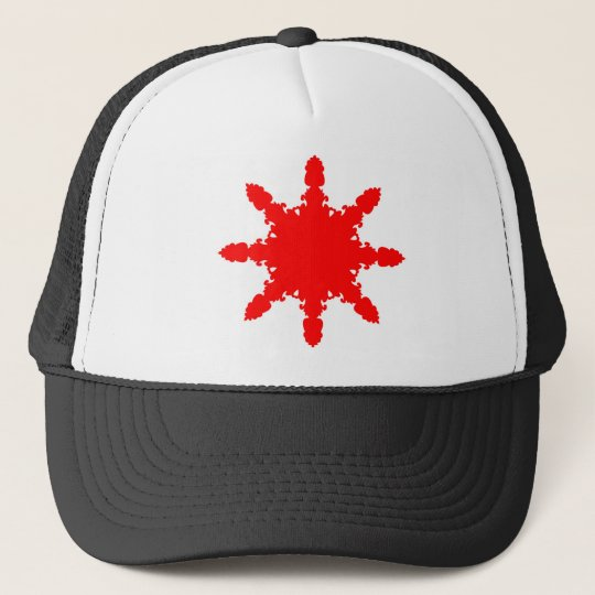 Roter Kreisdruck Trucker Mütze