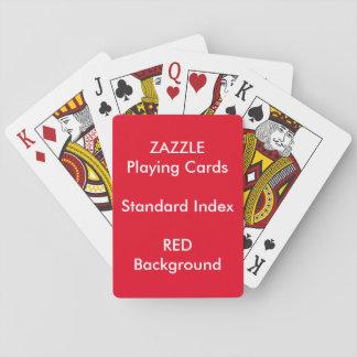 ROTER kundenspezifischer STANDARDindex Spielkarten