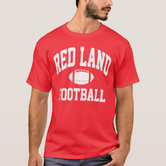 Roter Land-Fußball-T - Shirt