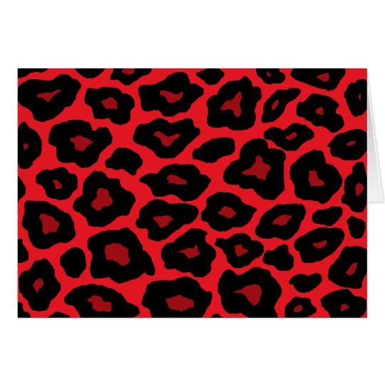 Roter Leopard Grußkarte