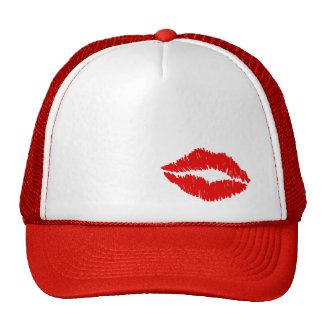 Roter Lippenkuß Baseball Cap