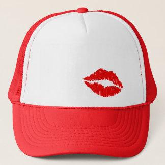 Roter Lippenkuß Truckerkappe