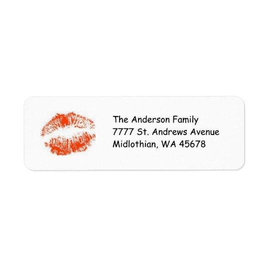 Roter LippenRücksendeadresse Avery Aufkleber Rücksende Aufkleber
