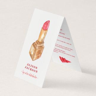 Roter Lippenstift des LipSense Verteiler-Aquarells Visitenkarten