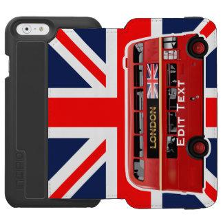 Roter London-Doppeldecker-Bus Incipio Watson™ iPhone 6 Geldbörsen Hülle