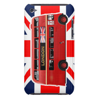 Roter London-Doppeldecker-Bus iPod Touch Etuis