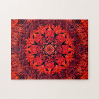 Roter Lotos-BlumeMandala