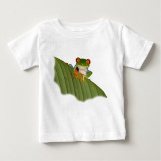 Roter mit Augen Gaudí Frosch-Baby-T - Shirt