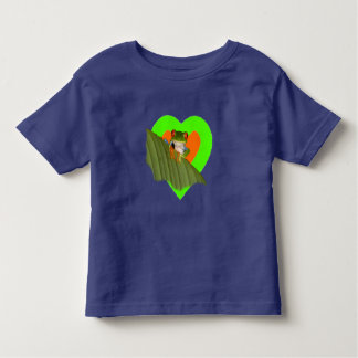 Roter mit Augen Gaudí Frosch-Kleinkind-T - Shirt