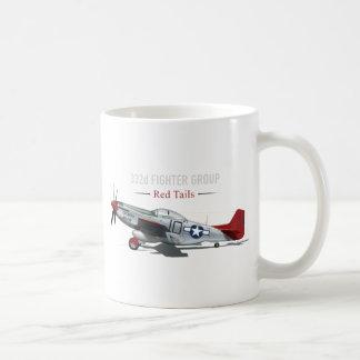 Roter Mustang des Schwanz-P-51 der Tuskegee Kaffeetasse