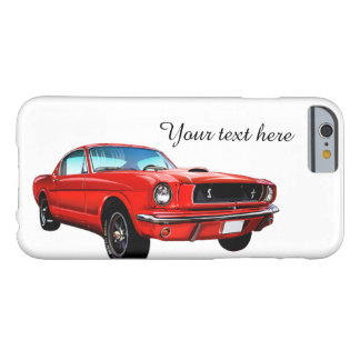 Roter Mustang personalisierter iPhone 6 Fall Barely There iPhone 6 Hülle
