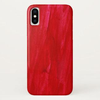 Roter nahtloser Hintergrund abstrakt und iPhone X Hülle