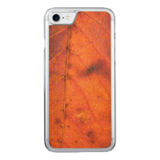 Roter-Orang Herbst-Blatt | Apple iPhone 7 Carved iPhone 8/7 Hülle