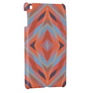 Roter orange blauer geometrischer gestrickter iPad mini hülle