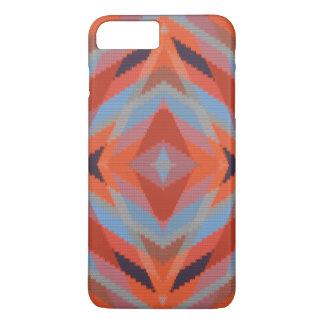 Roter orange blauer geometrischer gestrickter iPhone 7 plus hülle