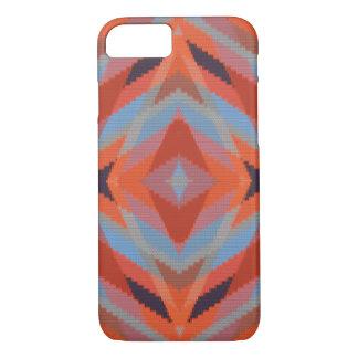 Roter orange blauer geometrischer gestrickter iPhone 8/7 hülle