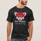 Roter Panda-Netz-Schwarzes T-Shirt