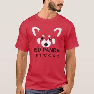 Roter Panda-Netz-T-Stück Rot T-Shirt