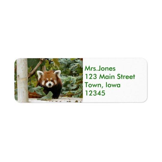Roter Panda Rücksendeetiketten