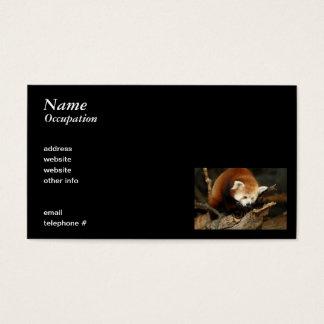 Roter Panda Visitenkarten