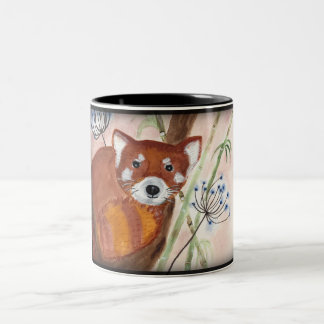 Roter Panda Zweifarbige Tasse