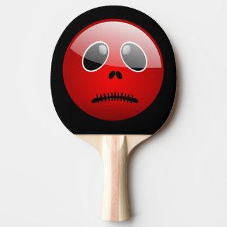 Roter Pong FreundEmoticon Tischtennis Schläger