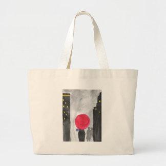 Roter Regenschirm Jumbo Stoffbeutel