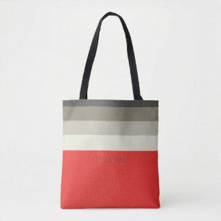 Roter Regenschirm-personalisierte Tasche