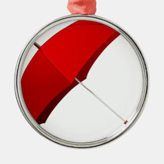 Roter Regenschirm Silbernes Ornament