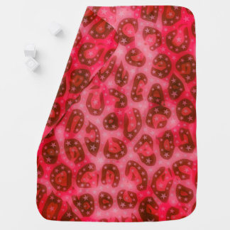 Roter rosa glühender Gepard Kinderwagendecke