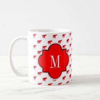 Roter roter weißer Punktelefant Tasse